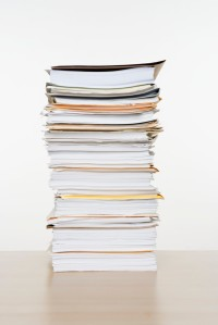 Tall Stack of Documents