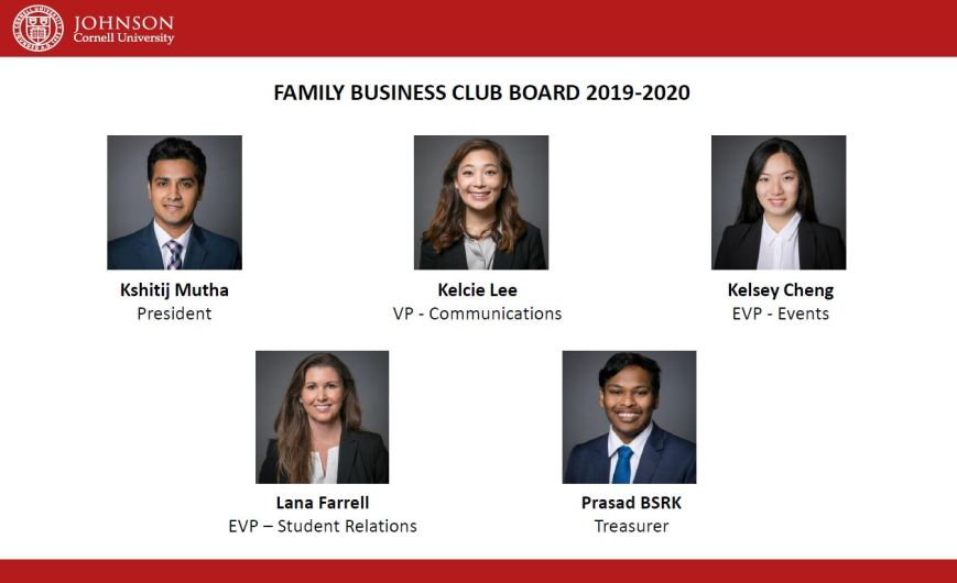 family business club board 2019-20